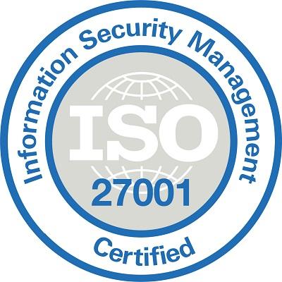 Сертификат ISO/IEC 27001 Международной организации по стандартизации и Международной электротехнической комиссией.