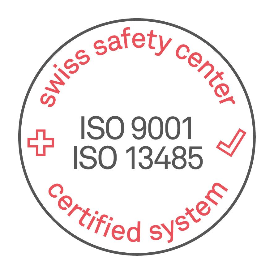 Сертификат Швейцарского центра безопасности